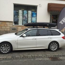 Montáž na BMW 3 combi – Thule Flow