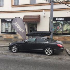 Montáž na Mercedes-Benz CLS – Thule 753 + Wingbar + Motion XT XL Black